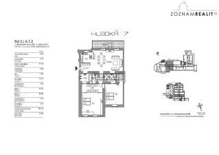PRENÁJOM, 2i byt v luxusnej rezidencii Hlboká 7, Staré Mesto